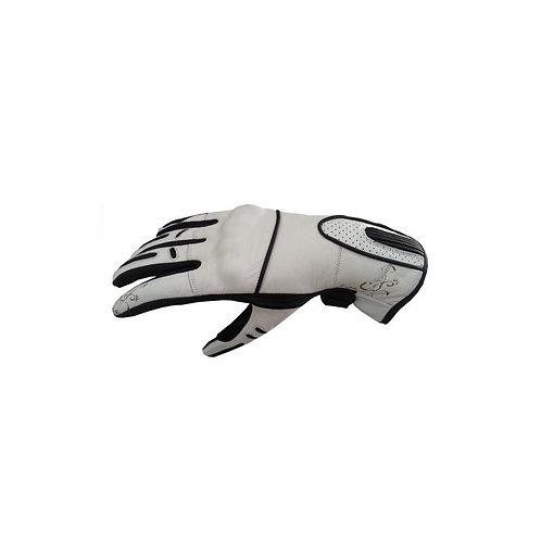 Kožené rukavice SPARK Nella, biele