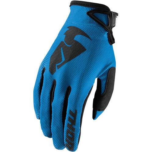 Detské motocrossové rukavice THOR Sector, modré