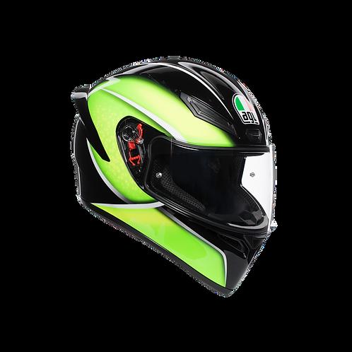 Moto helma AGV K1 MULTI ECE2205 - QUALIFY BLACK/LIME