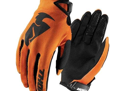 Motocrossové rukavice THOR Sector, oranžové
