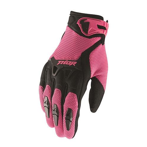 Motocrossové rukavice THOR Spectrum, ružové