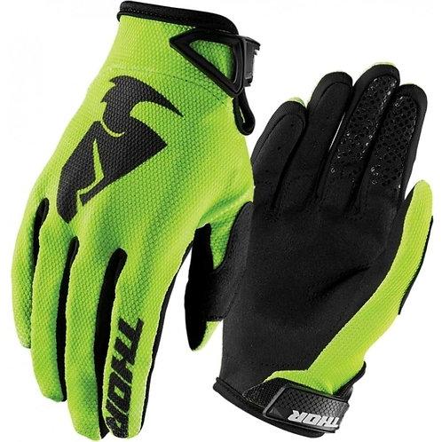 Motocrossové rukavice THOR Sector, zelené