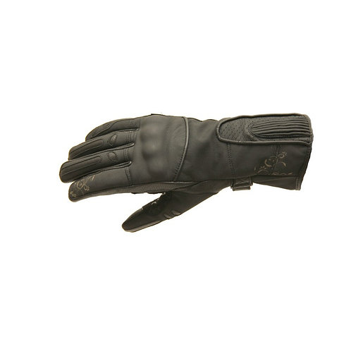 Kožené rukavice SPARK Nella, čierne