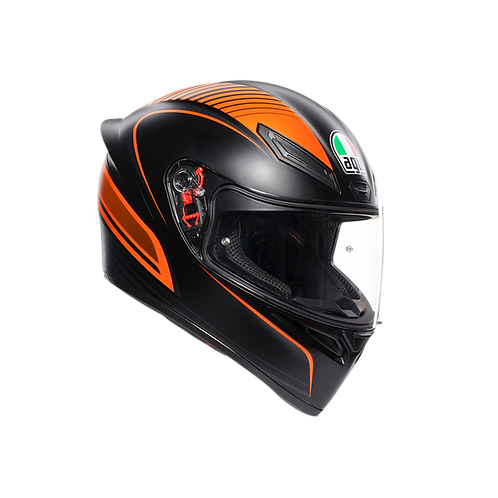 Moto helma AGV K1 MULTI ECE2205 - WARMUP MATT BLACK/ORANGE