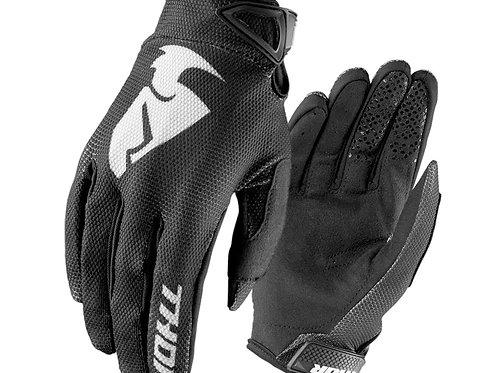 Motocrossové rukavice THOR Sector, čierne