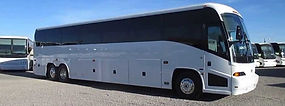 luxury 56 passenger motor coach bus with
