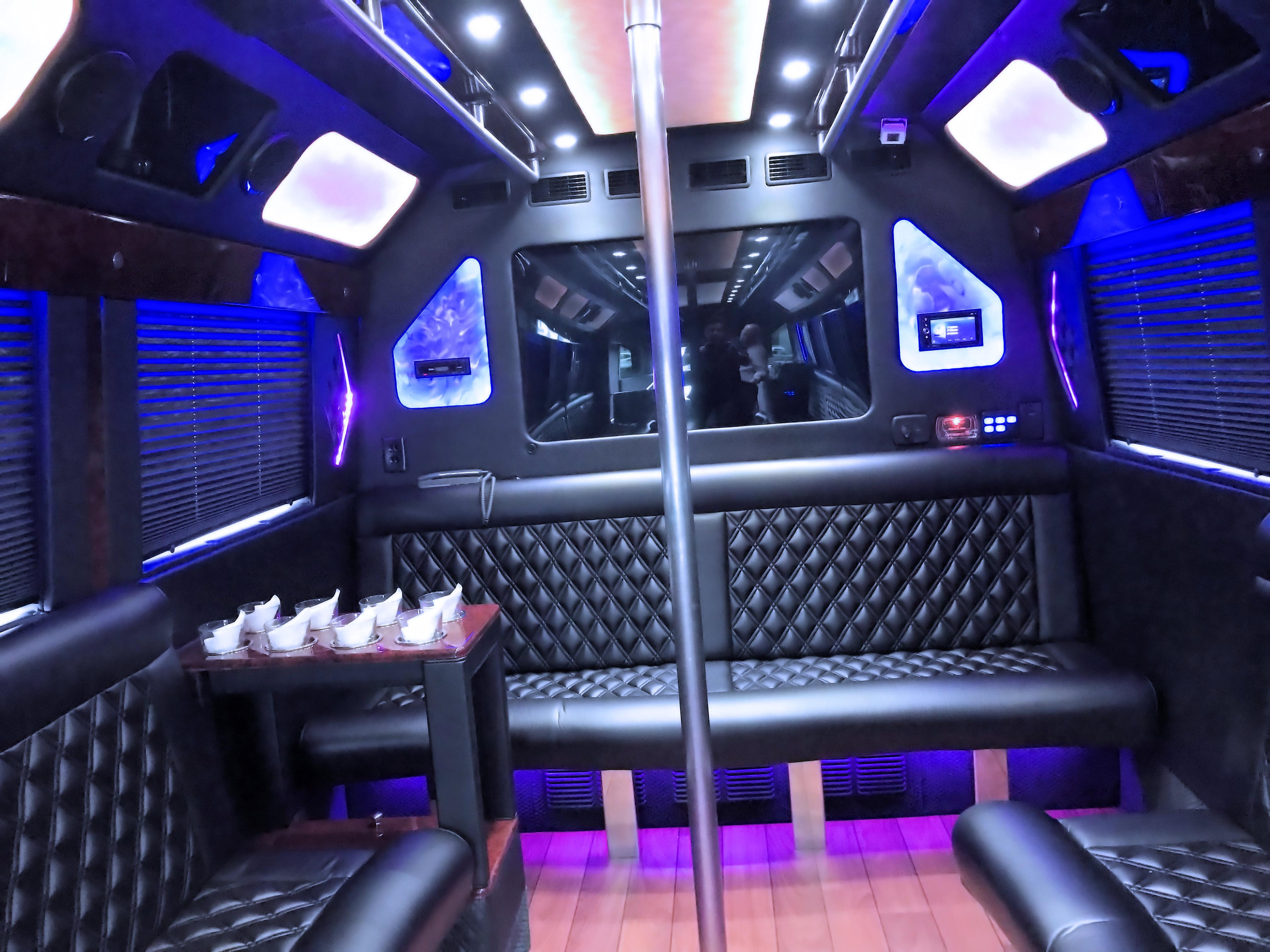 Luxury 22 passenger Party-bus