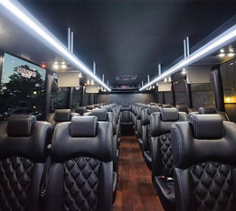 Luxury 20-40 passenger mini bus shuttle for hire in DC, MD, VA