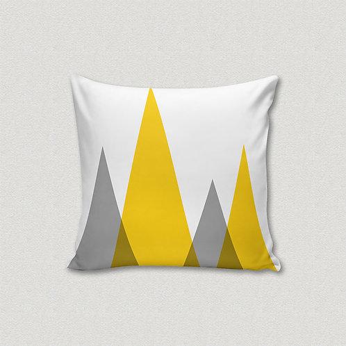 Almofada Alpes Amarelo e Cinza
