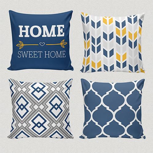 """Conjunto de capas para almofadas """"Home sweet home"""""""