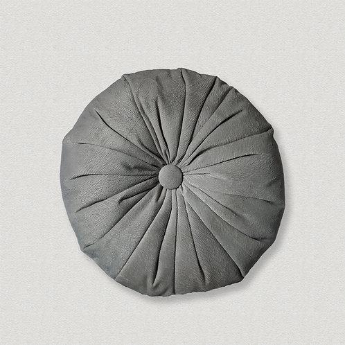 Almofada redonda futton cinza