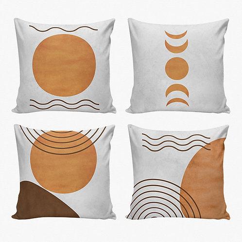 Conjunto capas de almofadas lua