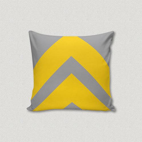 Almofada Seta Amarela e Cinza