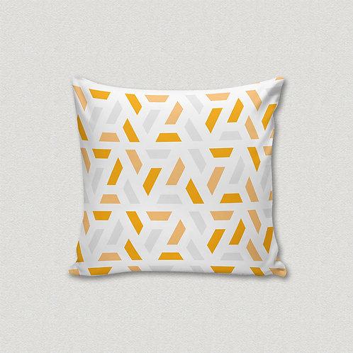 Almofada Geométrica Amarelo e Cinza
