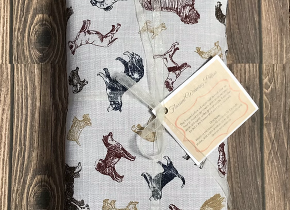 Lavender Flaxseed Warming Pillow -Dog Pattern