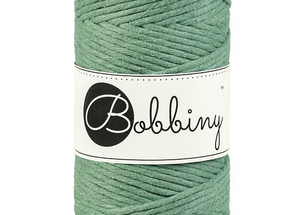 Bobbiny Eucalyptus Green 3mm Macramé Cord 100m/108yds