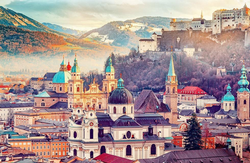 Salzburg, Austria, Europe. City in Alps