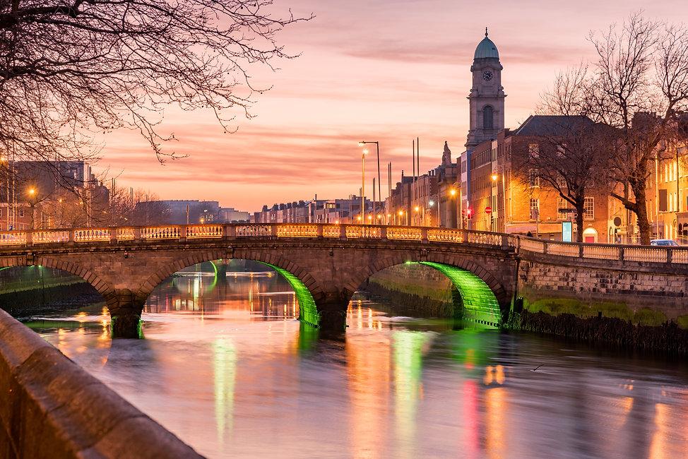 Grattan Bridge in Dublin, Ireland on the