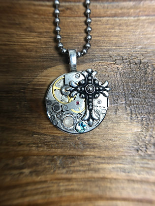 Vintage Watch Movement Necklace