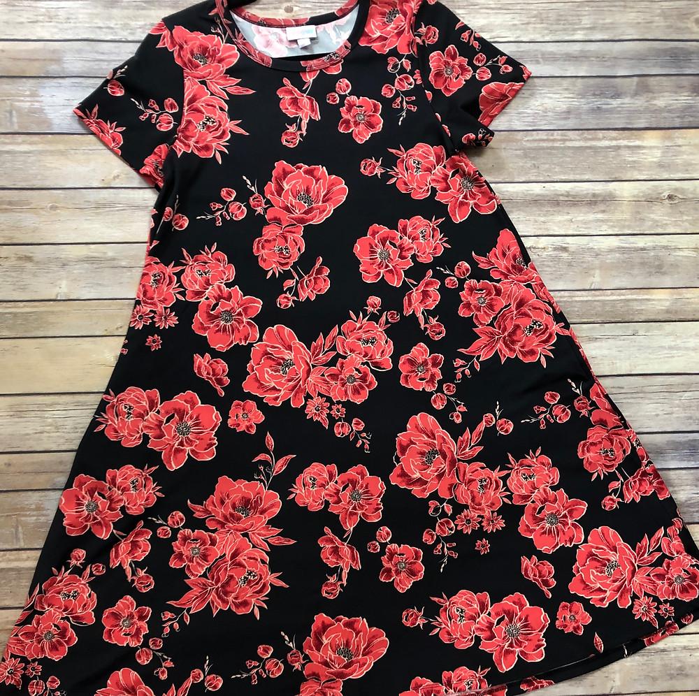 LuLaRoe Jessie Dress Flay lay