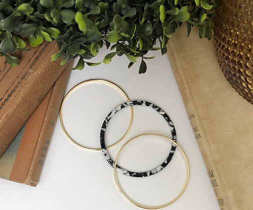 Black & White Bangle Bracelets
