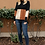 Thumbnail: CHLOE COLOR BLOCK TOP IN NATURAL