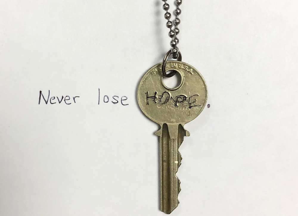 hand engraved key necklace
