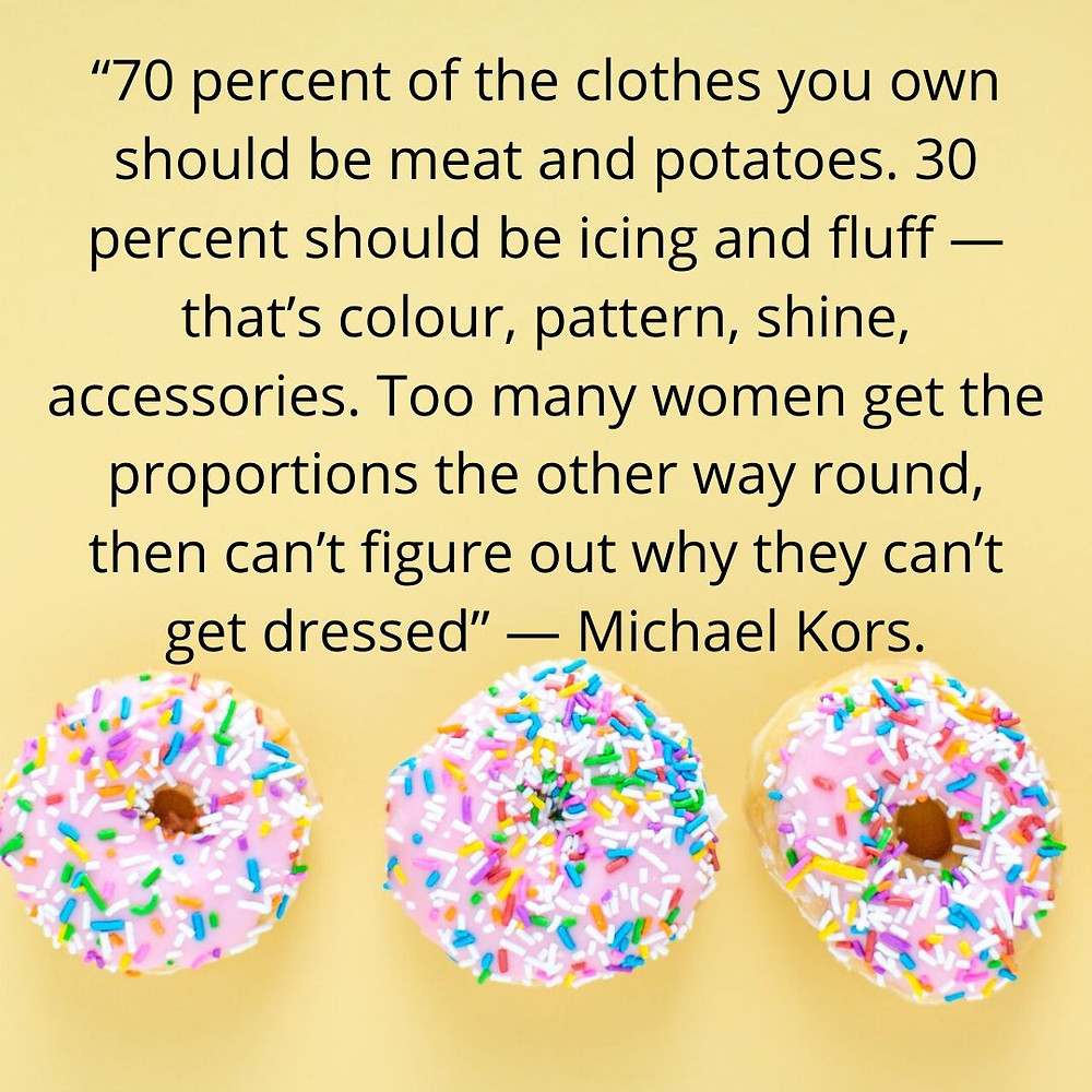 Wardrobe Basics Michael Kors quote