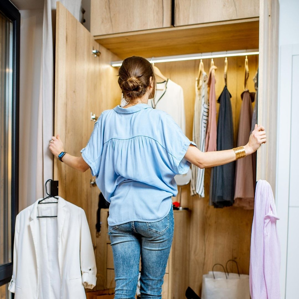 Cleaning out your closet for fall and winter clothes