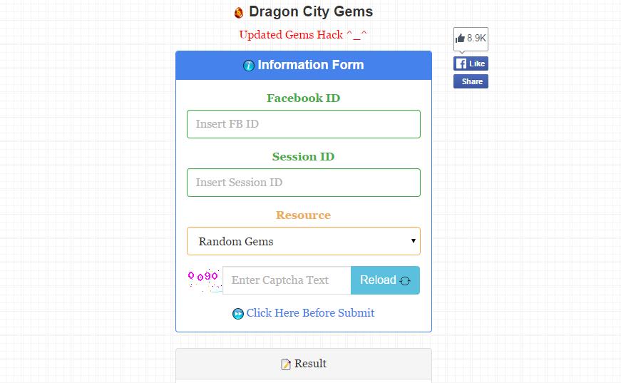 dragon city facebook id hack