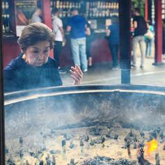 Smoke cleansing at Sensoji Temple in Japan. Photo by Gina Duncan