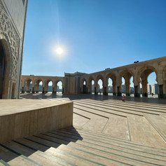 Hassan II the largest mosque in Morocco is located in Casablanca. Photo by Gina Duncan