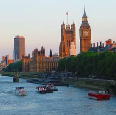London skyline at dusk.  Photo by Julia Duncan
