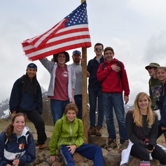 Youth on pilgrimage hiking up to Flattop Mountain in Anchorage, Alaska. Photo by Jonathan Duncan