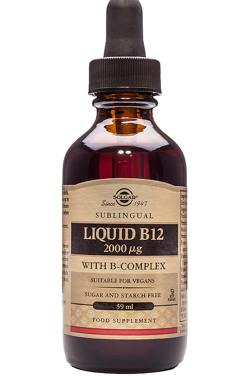 Sublingual Liquid B12 with B-Complex
