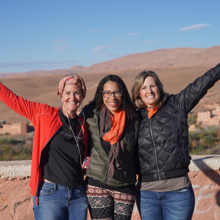 Friends in Morocco Gina, Kristen, Laney. Photo by Will Sueiro