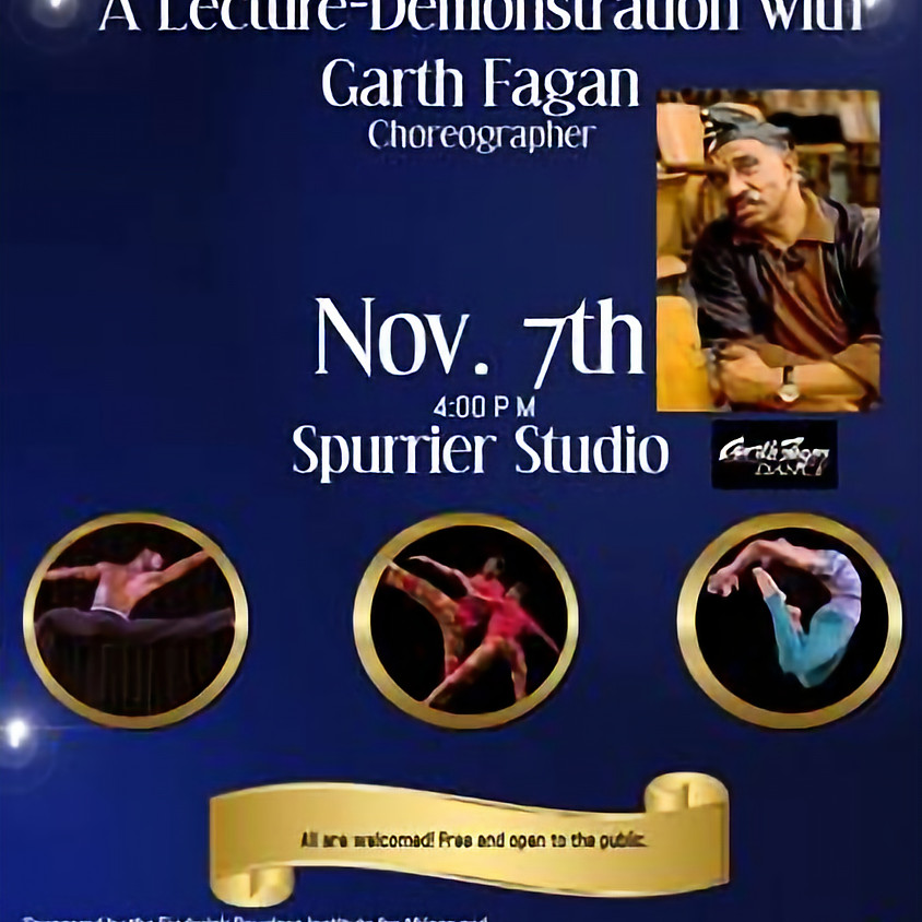 A Lecture Demonstration with Garth Fagan (Free Event)
