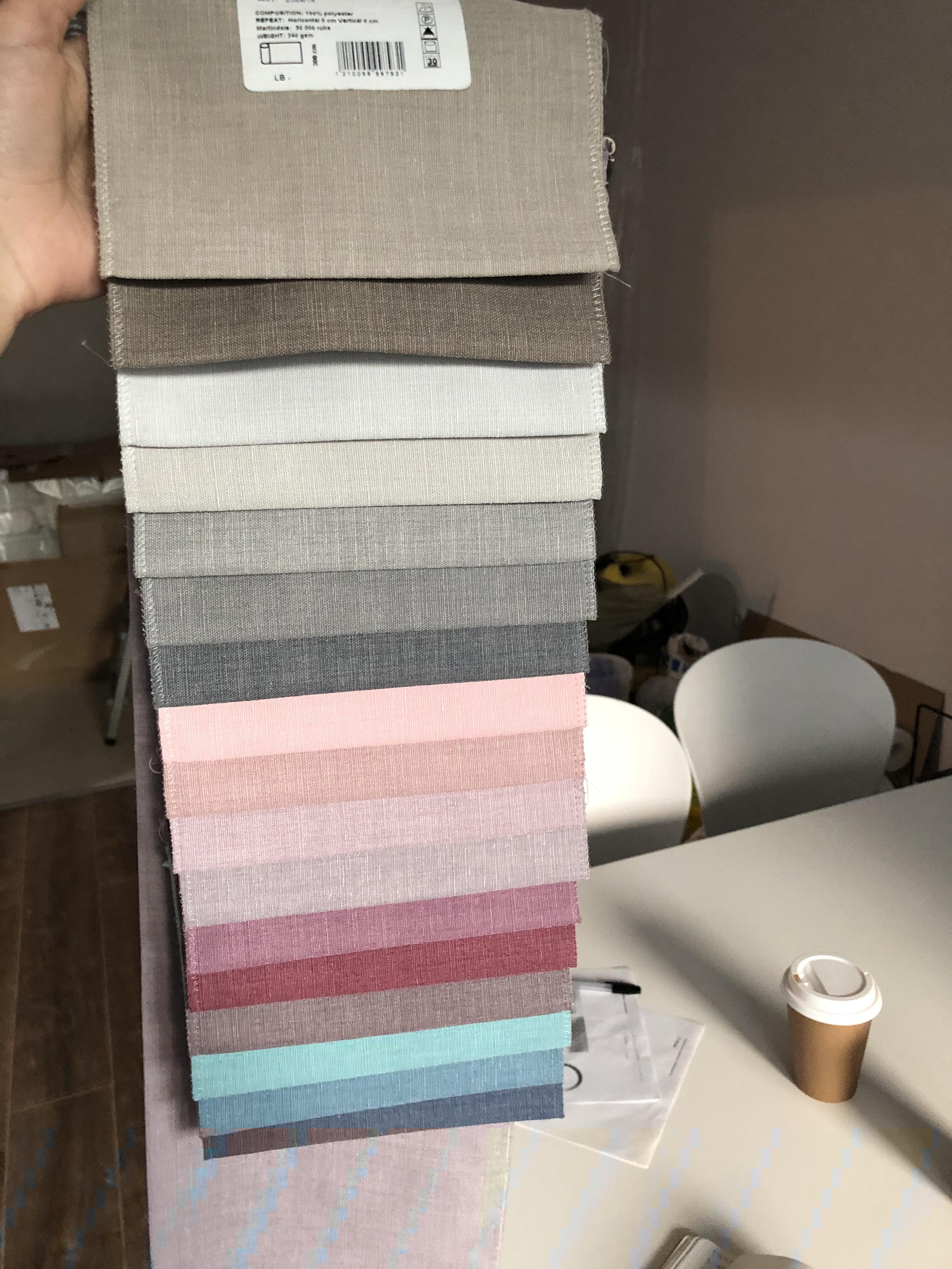 Выбор тканей для салона маникюра Pink