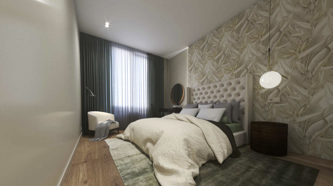 Спальная комната ЖК Лефортово парк