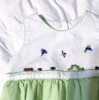 Button Embellishment with Embroidery