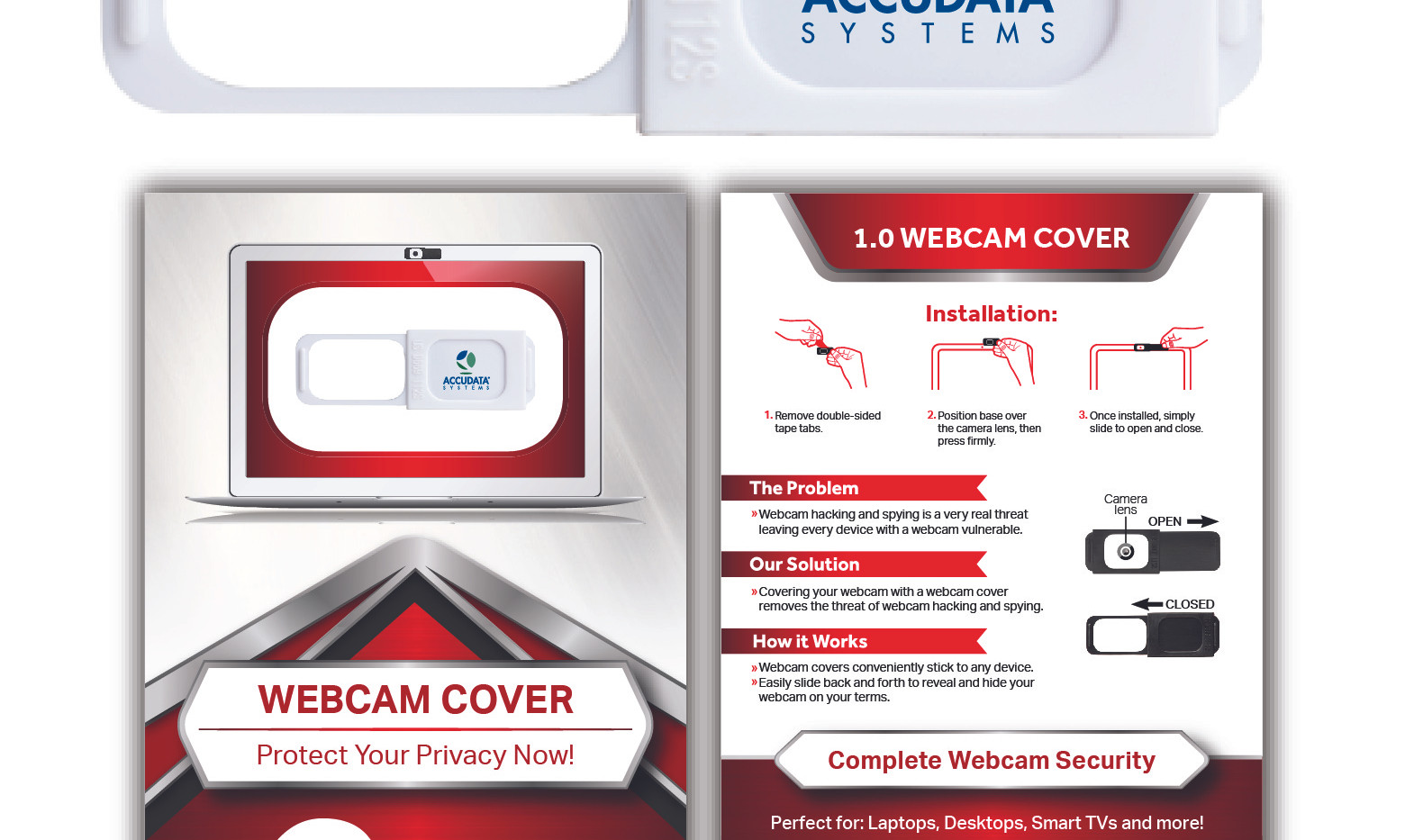 Original White Webcam Cover with Standard Packaging