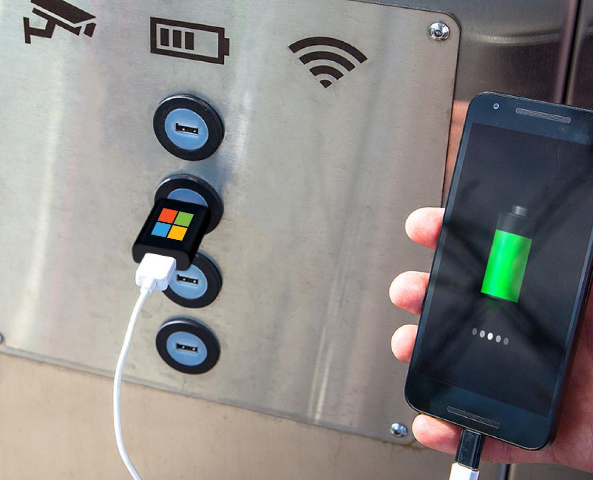 USB Data Blocker Charge Station Microsof