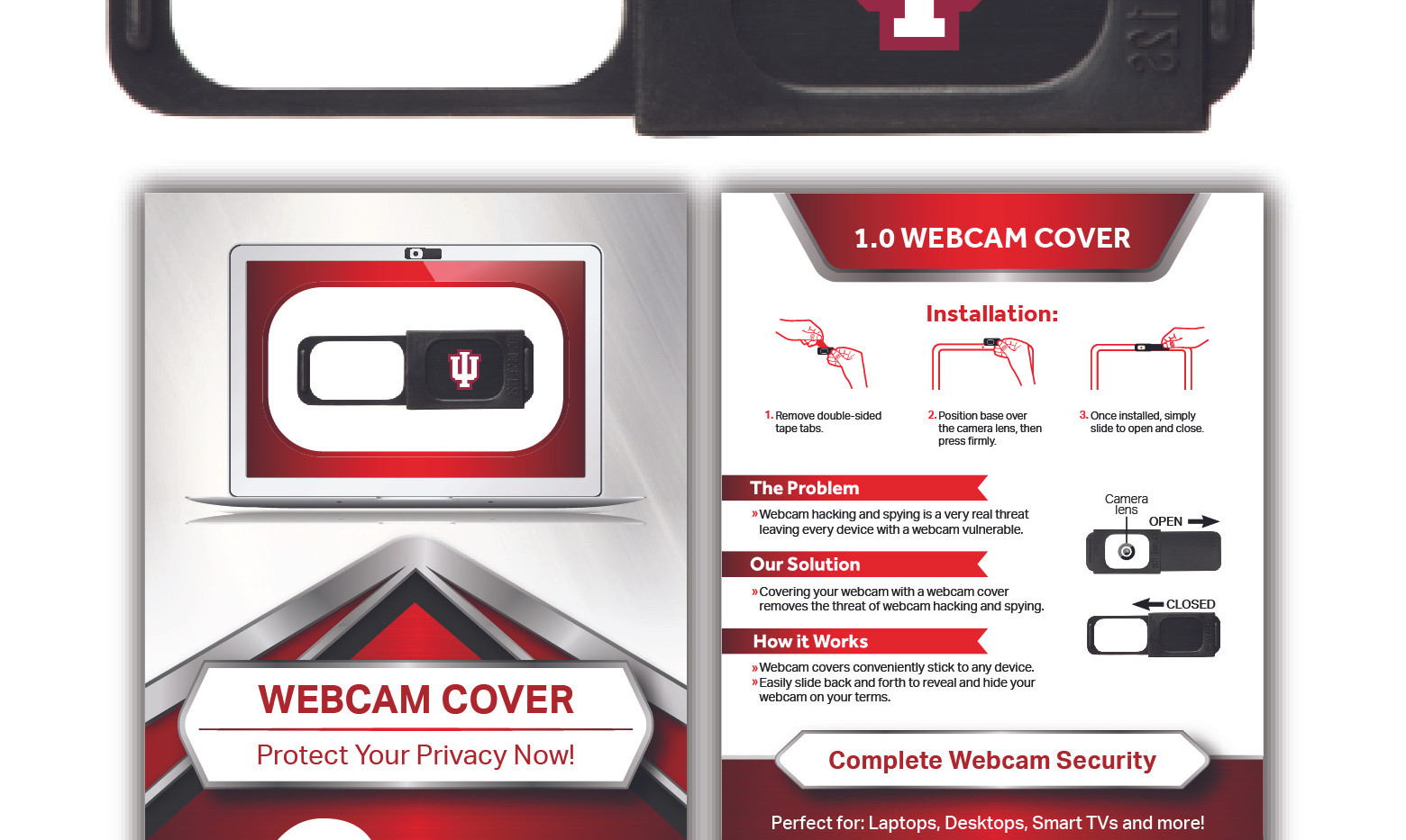 W1.0 Original Webcam Cover with Standard Packaging