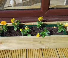 Making Flower Pot Holders from Waste Decking Wood!