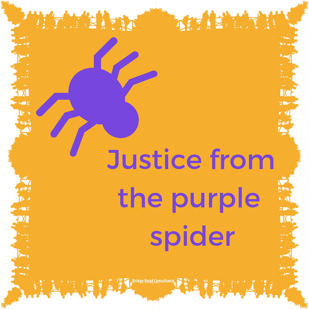 Justice from the purple spider