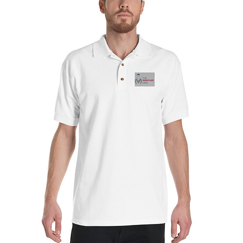 Embroidered Polo Shirt White