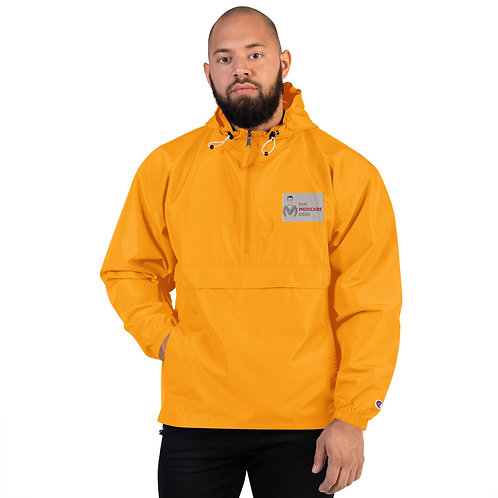 Embroidered Champion Packable Jacket Yellow
