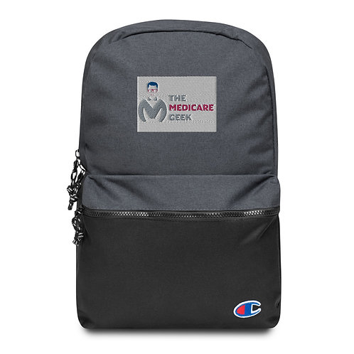 Embroidered Champion Backpack Front