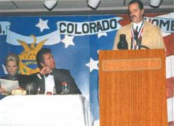 Wayne Newton, Don Bendell at banquet