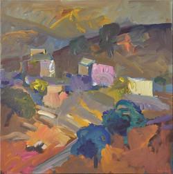 Landscape/oil on canvas/100x100cm